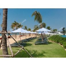 Dù gỗ ngoài trời cho Resort Movenpick Phú Quốc